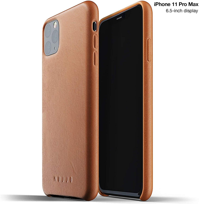 MUJJO Full Leather Case - Δερμάτινη Θήκη iPhone 11 Pro Max - Tan (MUJJO-CL-003-TN)