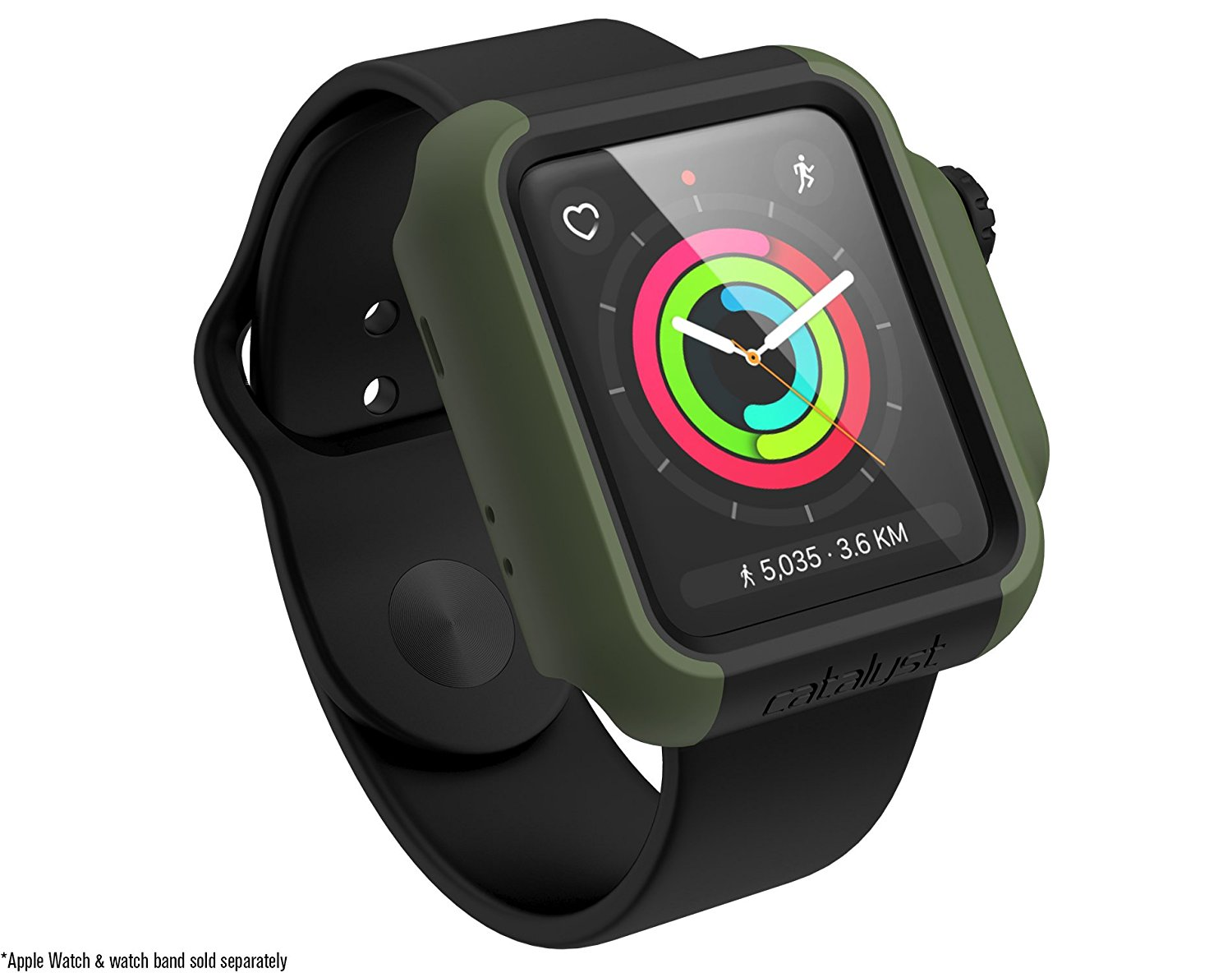 Catalyst Θήκη Impact Protection για Apple Watch 42mm Series 3/2 - Army Green (CAT42DROP3TGRN)