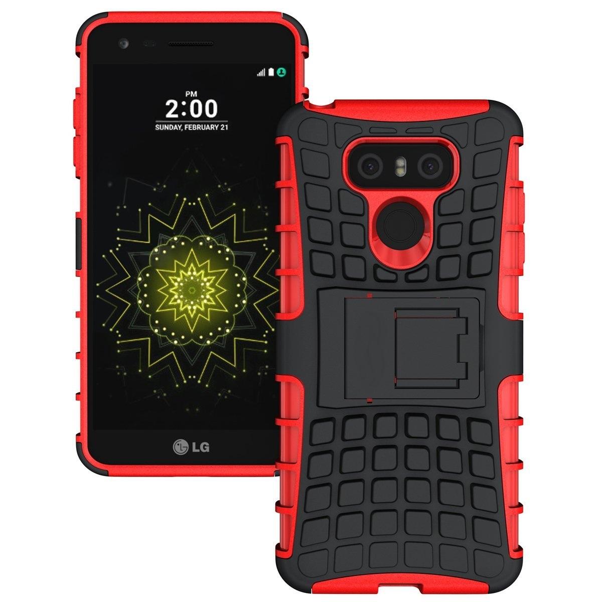 Ανθεκτική Θήκη με Stand LG G6 - Red - OEM (10923)