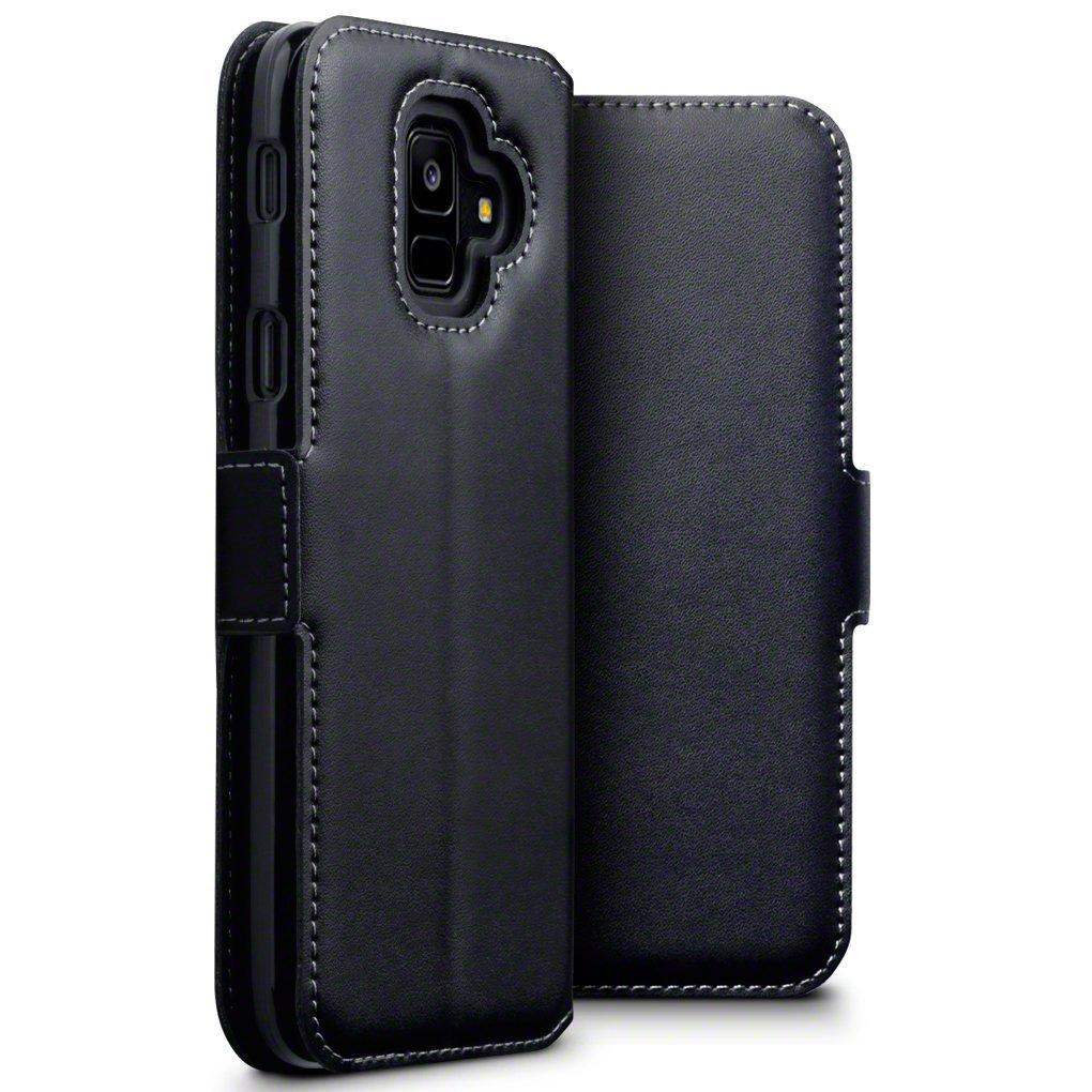Terrapin Low Profile Δερμάτινη Θήκη - Πορτοφόλι Samsung Galaxy A6 2018 - Black (117-002a-055)