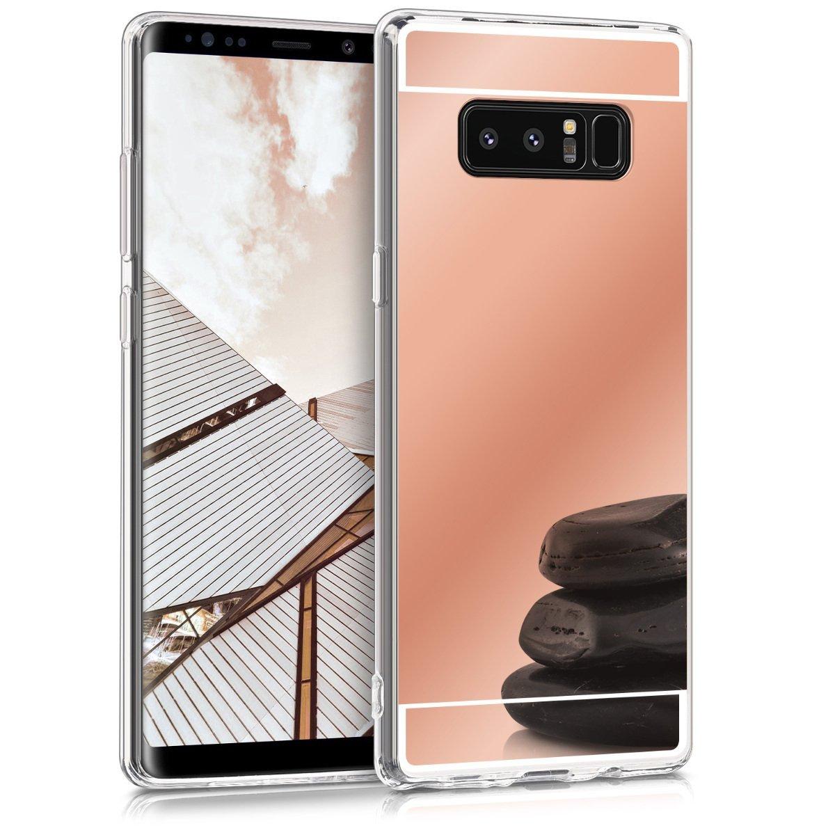 KW Θήκη Σιλικόνης με Καθρέφτη Samsung Galaxy Note 8 - Rose Gold (43330.41)