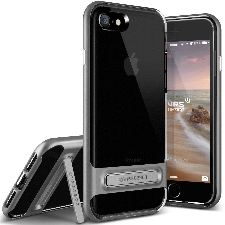 VRS Design Θήκη Crystal Bumper Kickstand iPhone 8 / 7 - Steel Silver (904599)
