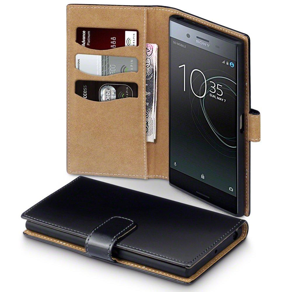 Terrapin Θήκη Πορτοφόλι Sony Xperia XZ Premium - Black/Tan (117-005-474)