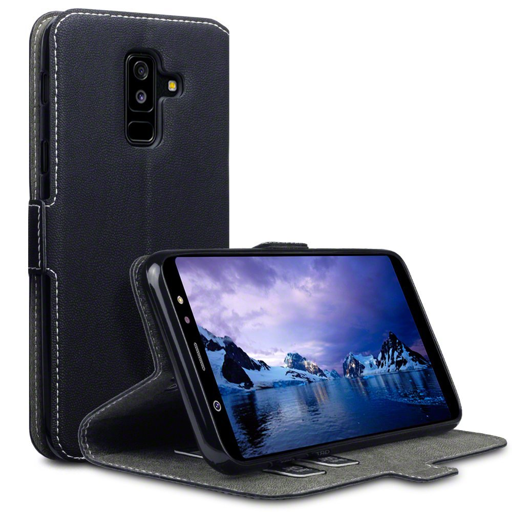 Terrapin Low Profile Thin Θήκη - Πορτοφόλι Samsung Galaxy A6 Plus 2018 - Black (117-002a-068)