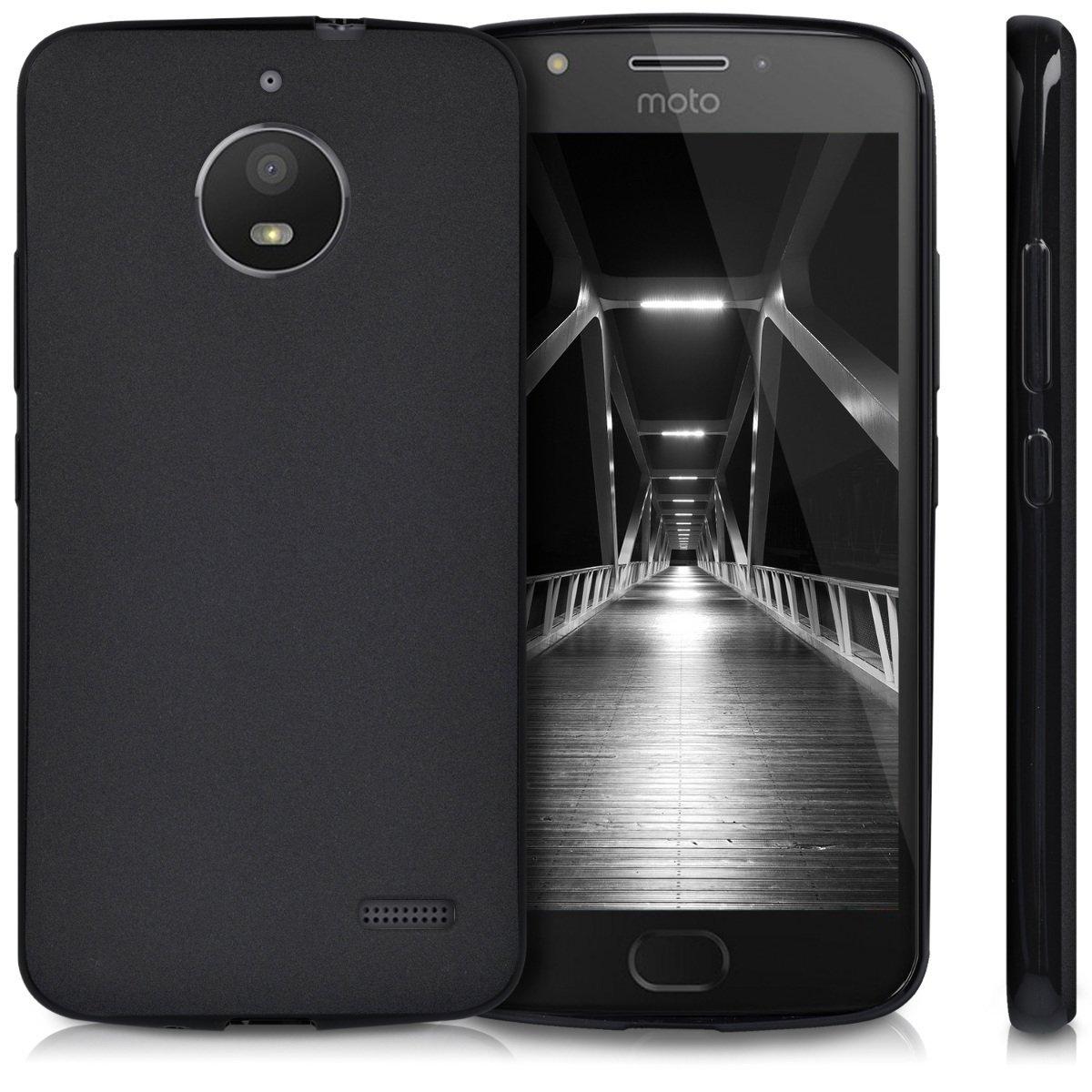 KW Θήκη Σιλικόνης Motorola Moto E4 - Black (42352.47)