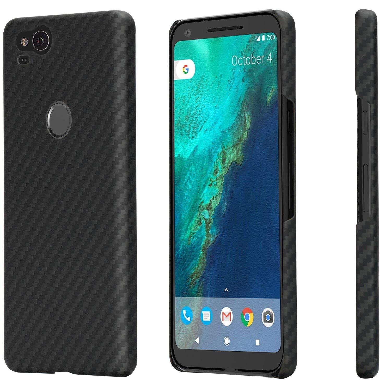 Pitaka MagCase - Θήκη Kevlar Body Google Pixel 2 - 0.65mm - Black (KG2001)
