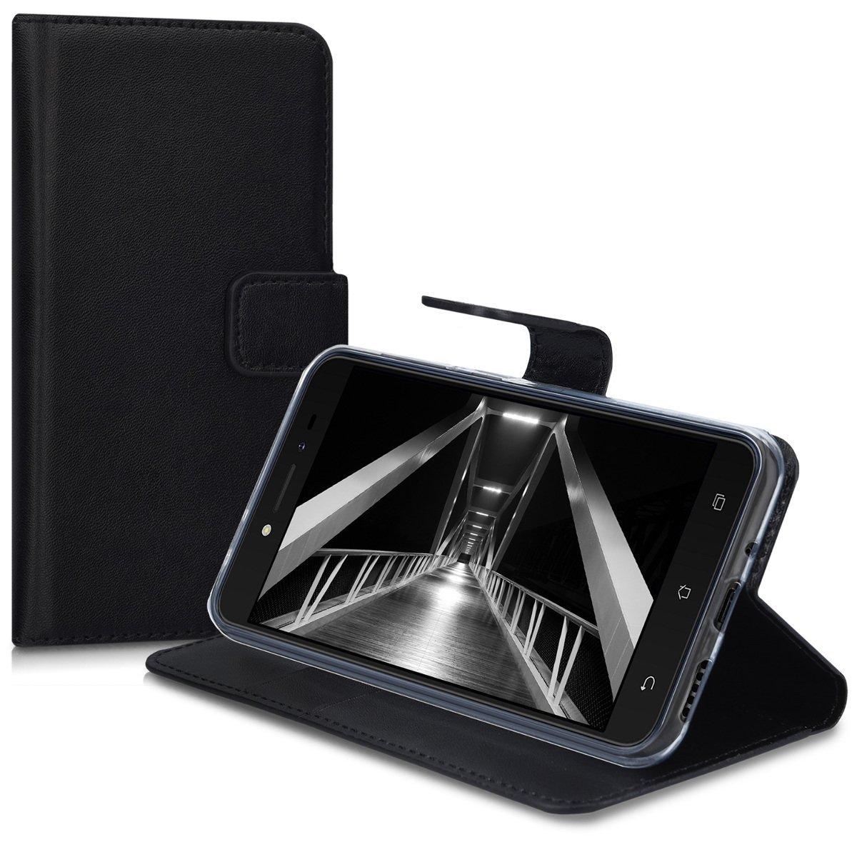 KW Θήκη - Πορτοφόλι Asus Zenfone Live - Black (42586.01) θήκες κινητών