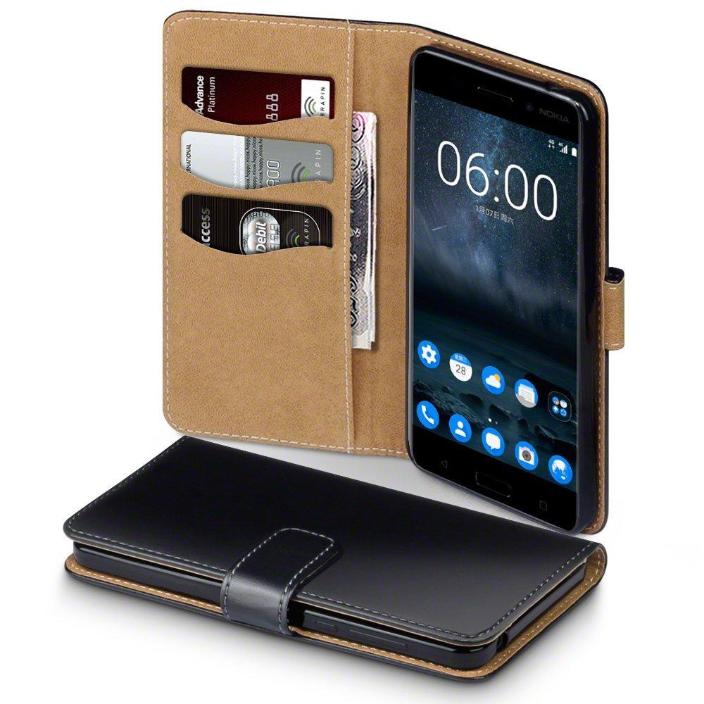 Terrapin Θήκη - Πορτοφόλι Nokia 6 - Black / Tan (117-001-253)