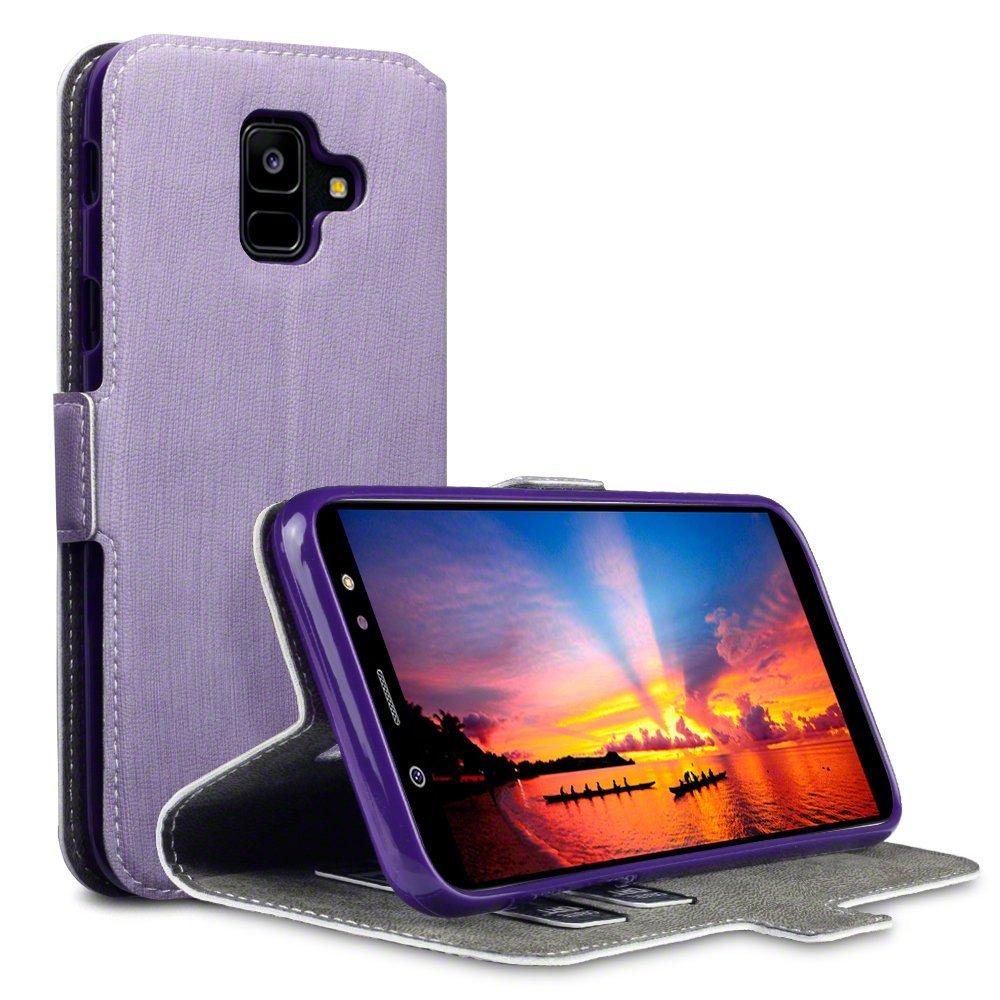 Terrapin Low Profile Thin Θήκη - Πορτοφόλι Samsung Galaxy A6 2018 - Purple (117-002a-060)