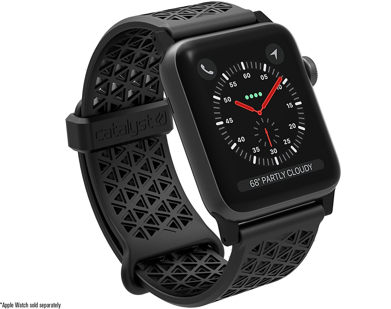 Catalyst Ανταλλακτικό Λουράκι Σιλικόνης Apple Watch 5/4/3/2/1 - 44/42mm - Black (CAT42SBBLK)