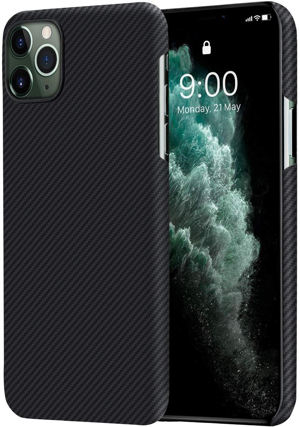 Pitaka Air Case - Θήκη Kevlar Body iPhone 11 Pro Max - 0.6mm - Black (KI1101MA)