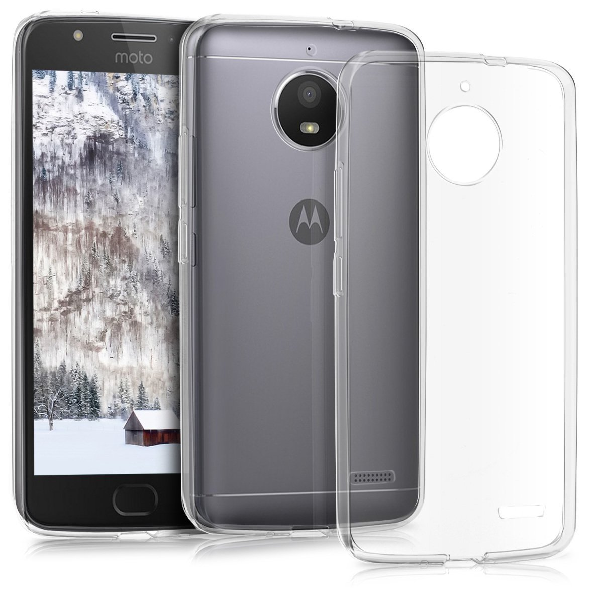 KW Διάφανη Θήκη Σιλικόνης Motorola Moto E4 - Clear (42350.03)