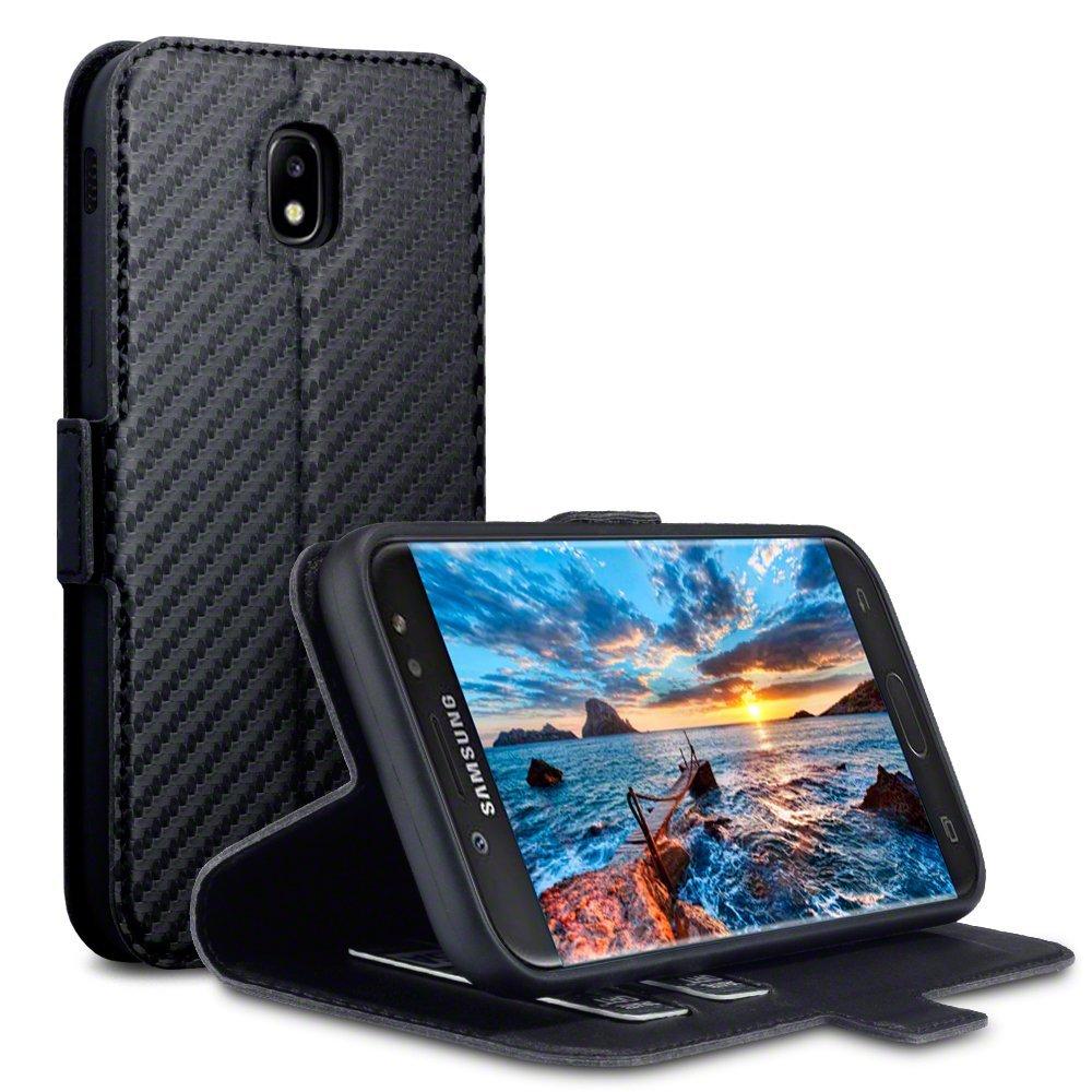 Terrapin Θήκη Πορτοφόλι Samsung Galaxy J5 2017- Black Carbon (117-002-997)
