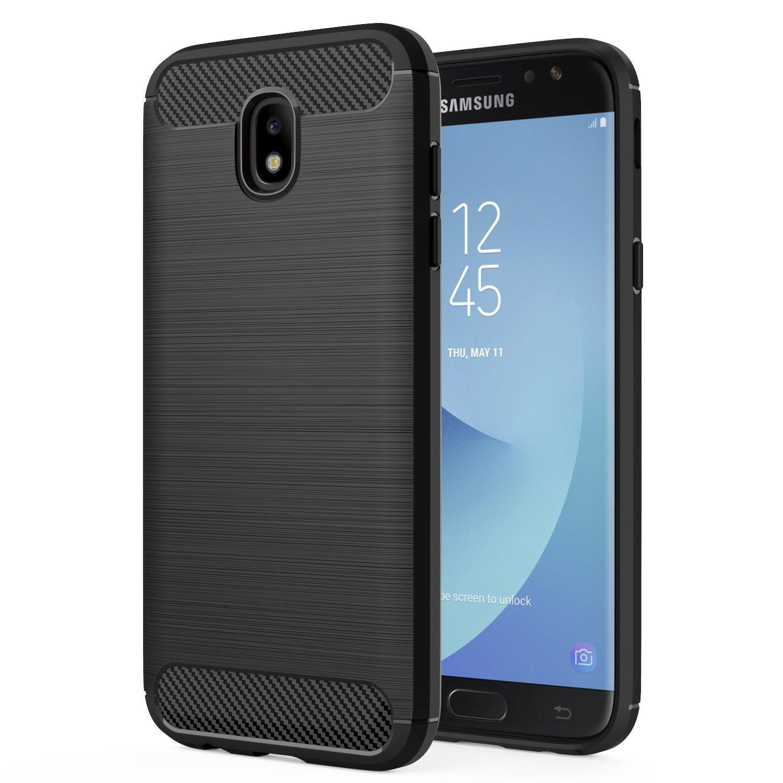 Θήκη TPU Carbon Samsung Galaxy J7 (2017) - Black - OEM (11095)