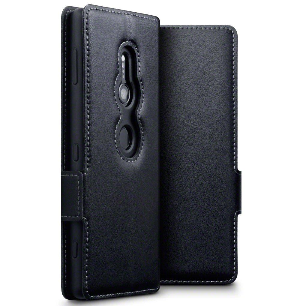 Terrapin Low Profile Δερμάτινη Θήκη - Πορτοφόλι Sony Xperia XZ2 - Black (117-005-609)