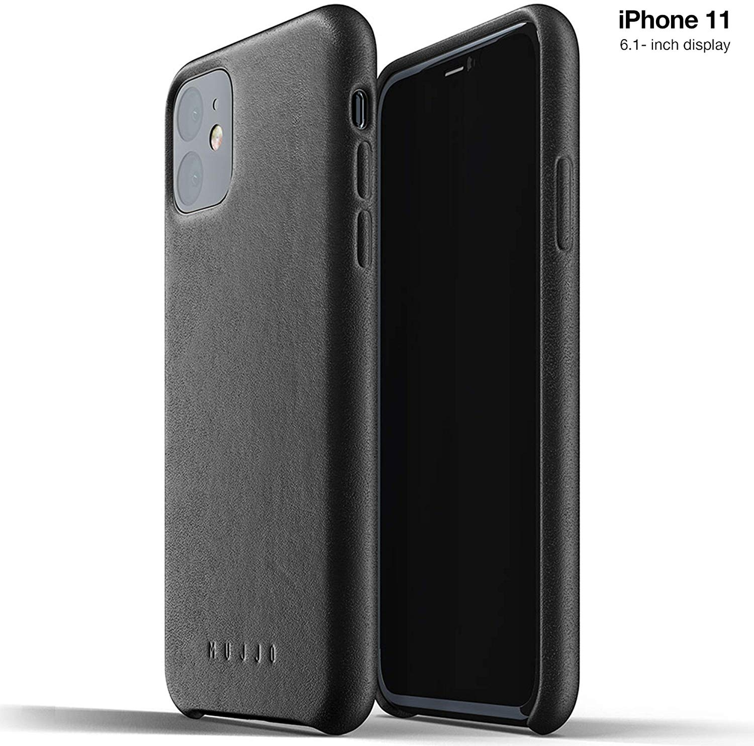 MUJJO Full Leather Case - Δερμάτινη Θήκη iPhone 11 - Black (MUJJO-CL-005-BK)