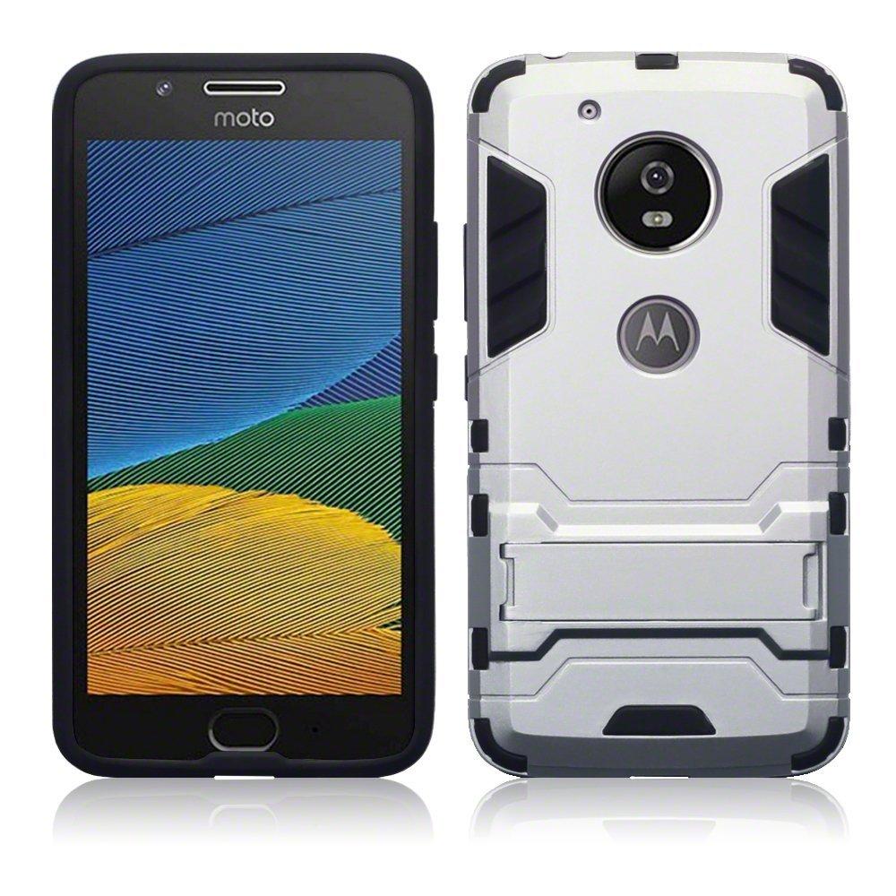 Terrapin Ανθεκτική Θήκη με Stand Motorola Moto G5 - Silver (131-003-003)