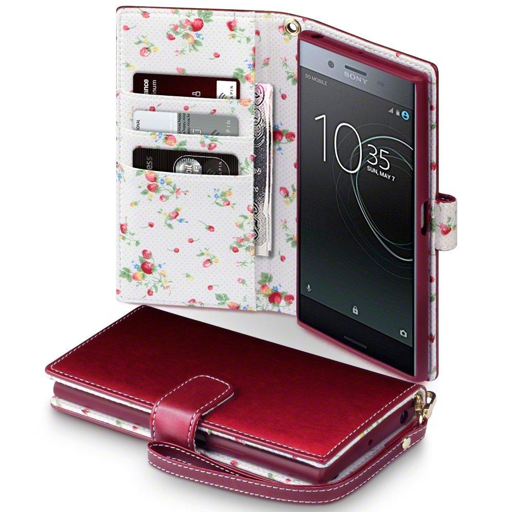 Terrapin Θήκη Πορτοφόλι Sony Xperia XZ Premium - Red Floral (117-005-475)