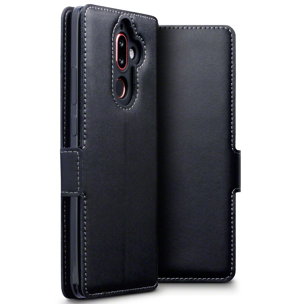 Terrapin Low Profile Δερμάτινη Θήκη - Πορτοφόλι Nokia 7 Plus - Black (117-001-284)