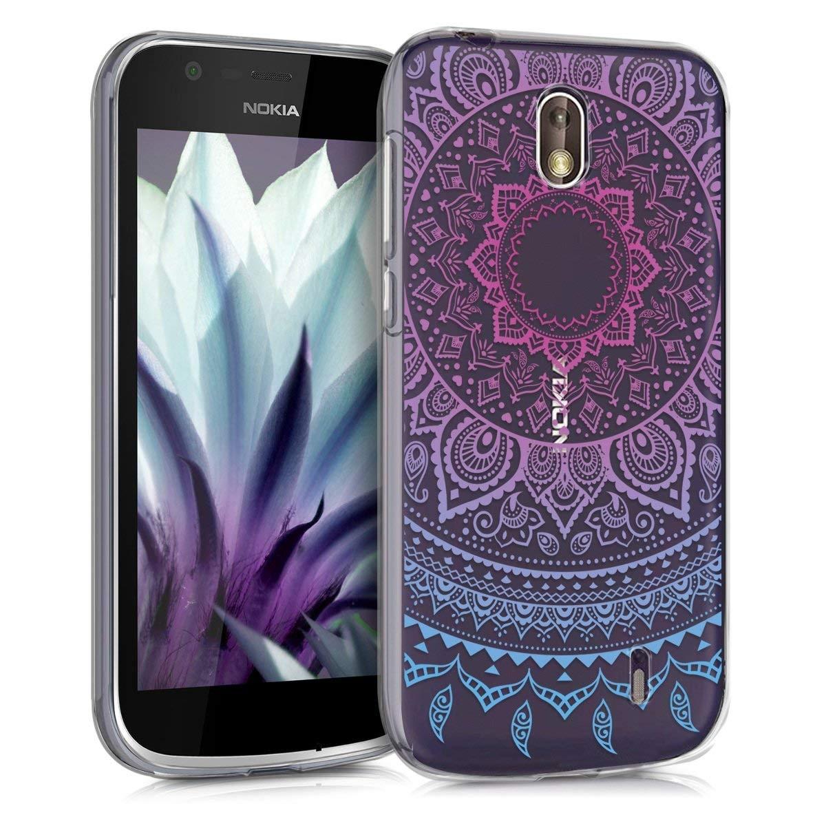 KW Θήκη Σιλικόνης Nokia 1 - Blue Dark/ Pink Indian Sun (44502.01)
