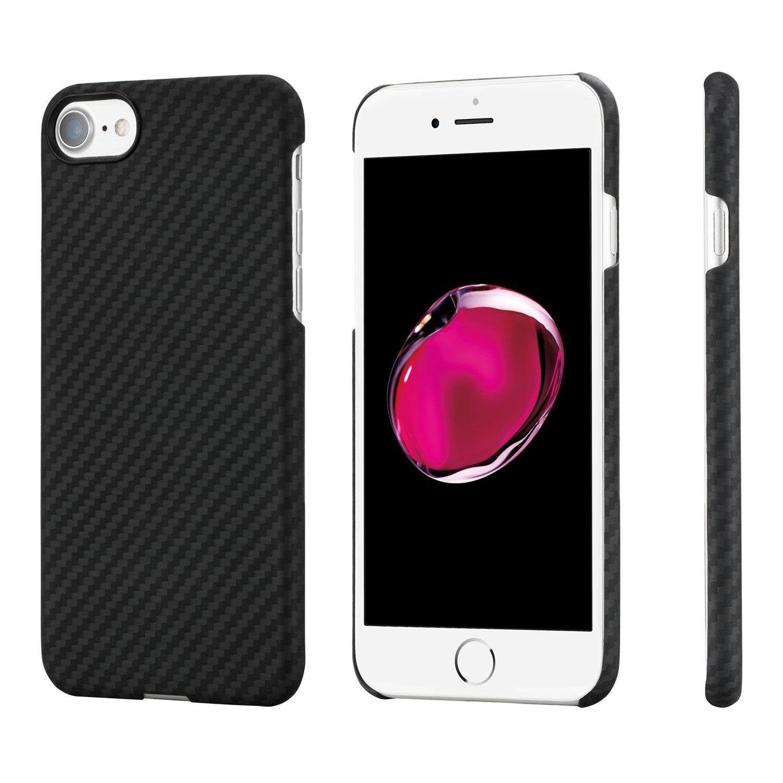 Pitaka MagCase - Θήκη Kevlar Body iPhone 7 / 8 - 0.65mm - Black & Tempered Glass (KI8001)