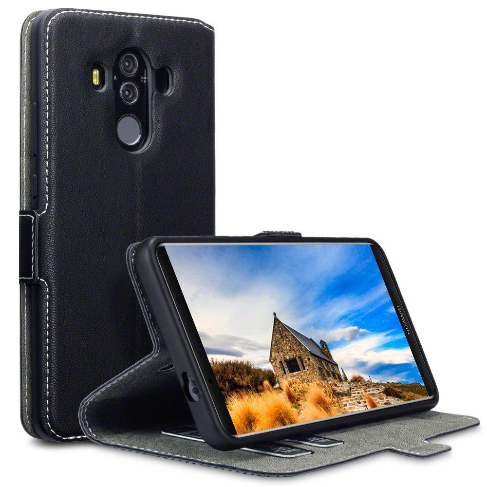Terrapin Low Profile Thin Θήκη - Πορτοφόλι Huawei Mate 10 Pro - Black (117-083-162)