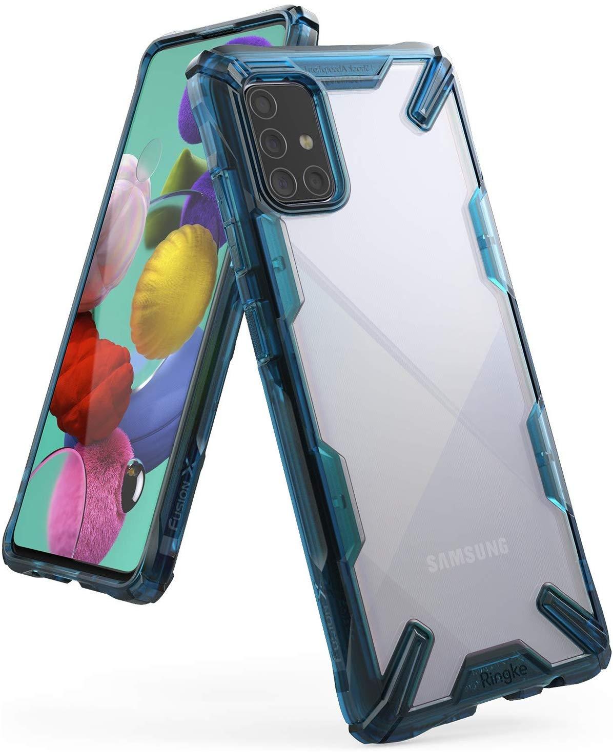 Ringke Fusion X Θήκη Σιλικόνης Samsung Galaxy A71 - Space Blue (61622)