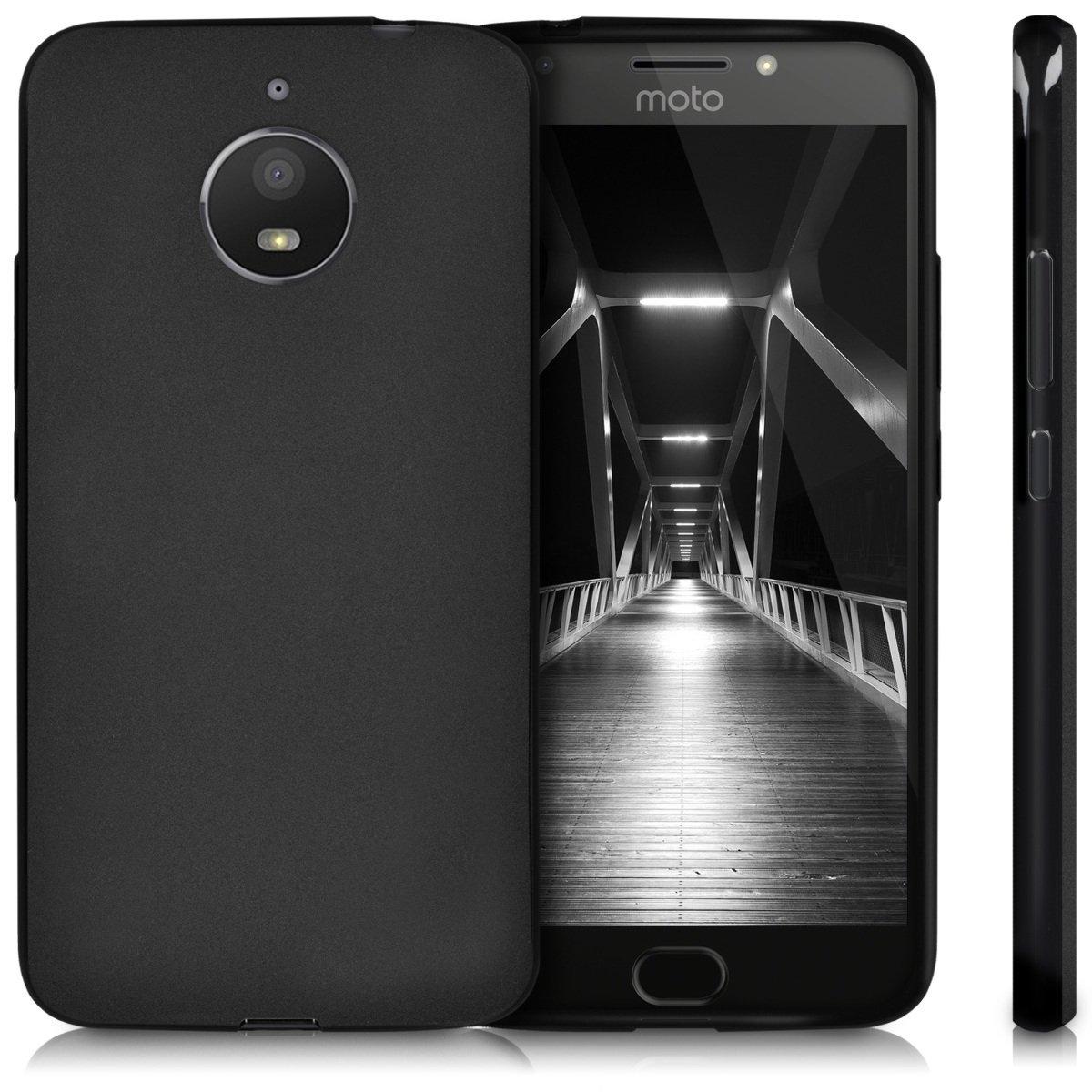 KW Θήκη Σιλικόνης Motorola Moto E4 Plus - Black (42356.47)