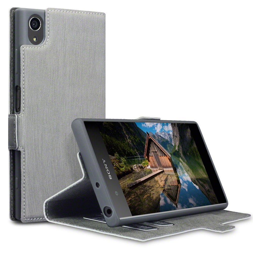 Terrapin Θήκη Πορτοφόλι Sony Xperia XA1 Plus - Grey (117-005-556)