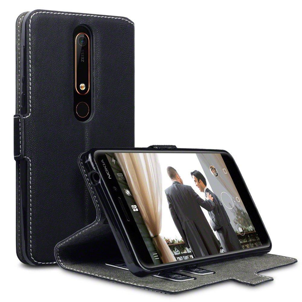 Terrapin Low Profile Thin Θήκη - Πορτοφόλι Nokia 6.1 / Nokia 6 2018 - Black (117-001-280)