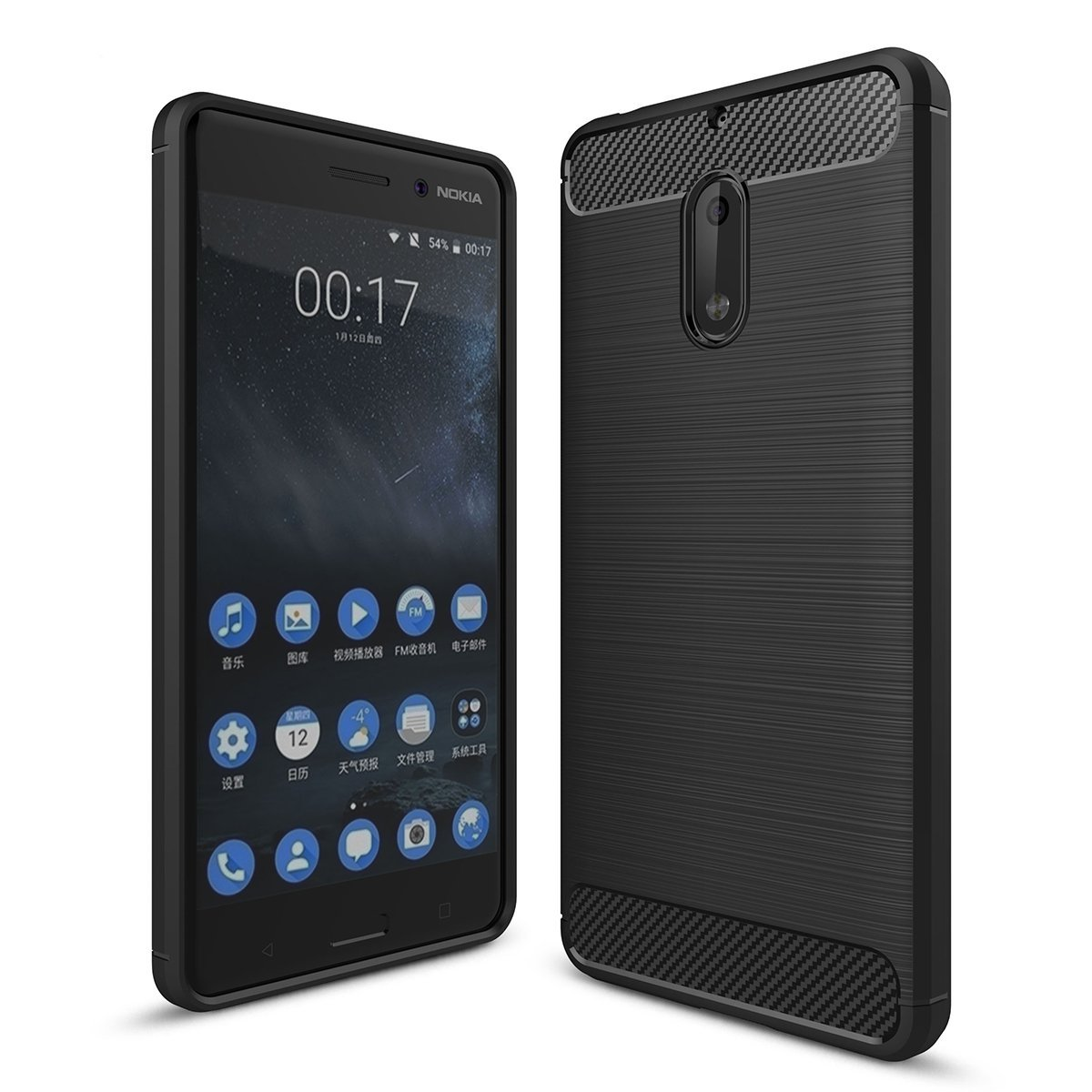 Θήκη TPU Carbon Nokia 6 - Black - OEM (11101)