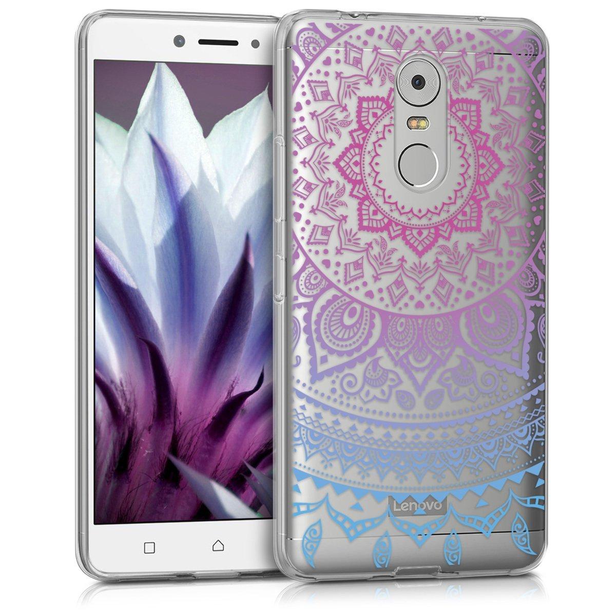 KW Θήκη Σιλικόνης Lenovo K6 Note - Blue Dark/ Pink Indian Sun (40501.01) θήκες κινητών
