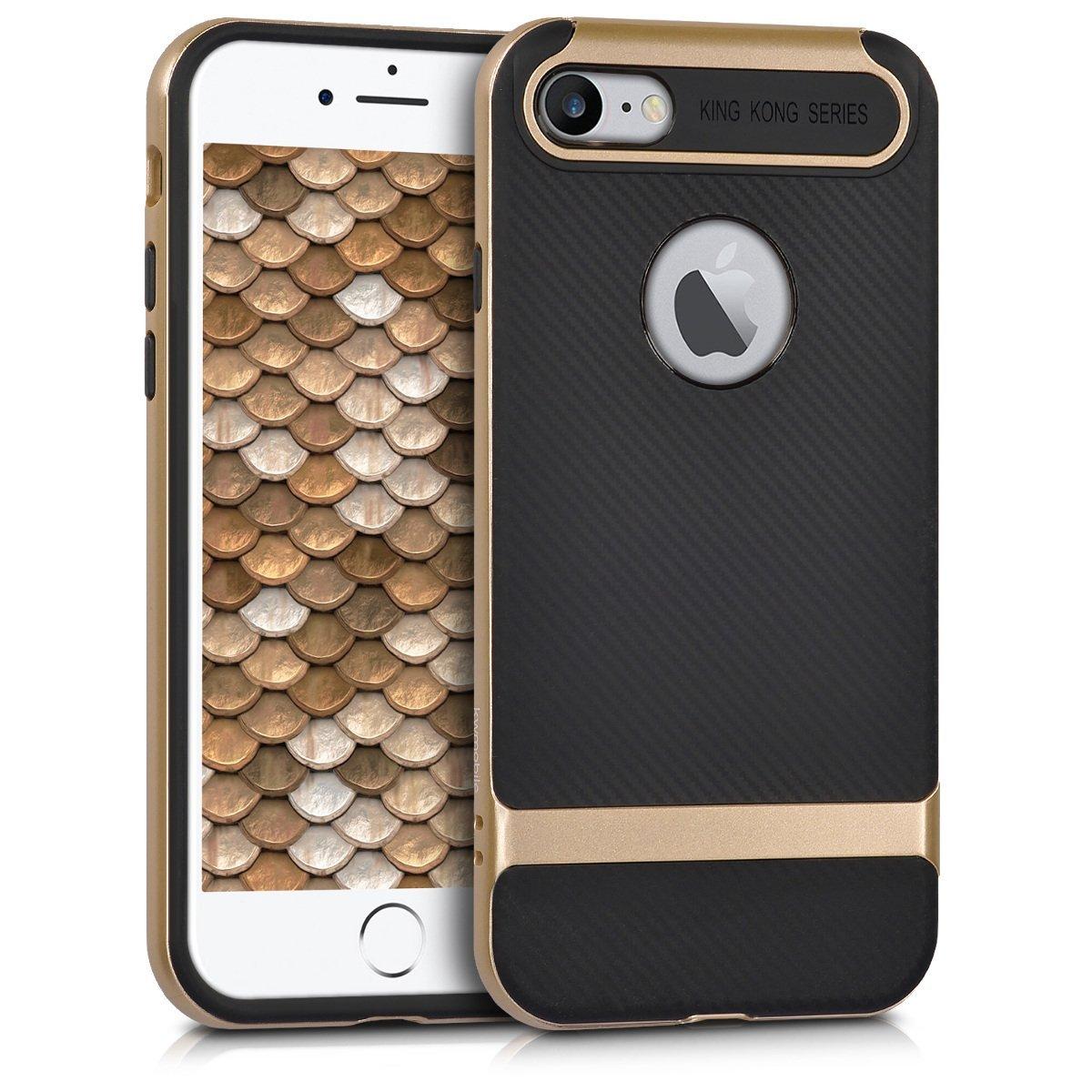 KW Hybrid Θήκη Σιλικόνης iPhone 7 - Metallic Gold/Black (40481.66)