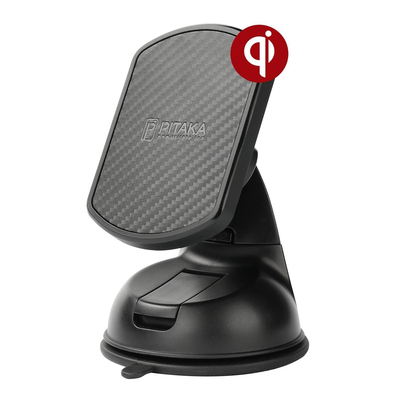 Pitaka MagMount Qi Wireless Βάση Φόρτισης Αυτοκινήτου με Βεντούζα - Black (CMS001Q)