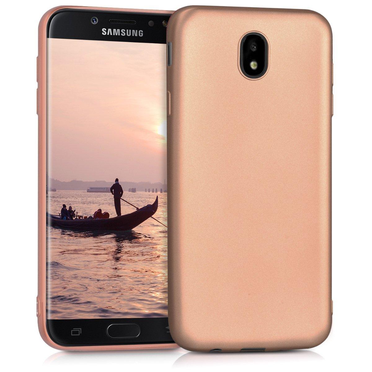 KW Θήκη Σιλικόνης Samsung Galaxy J7 2017 (Version J730F) - Metallic Rosegold (42289.31)