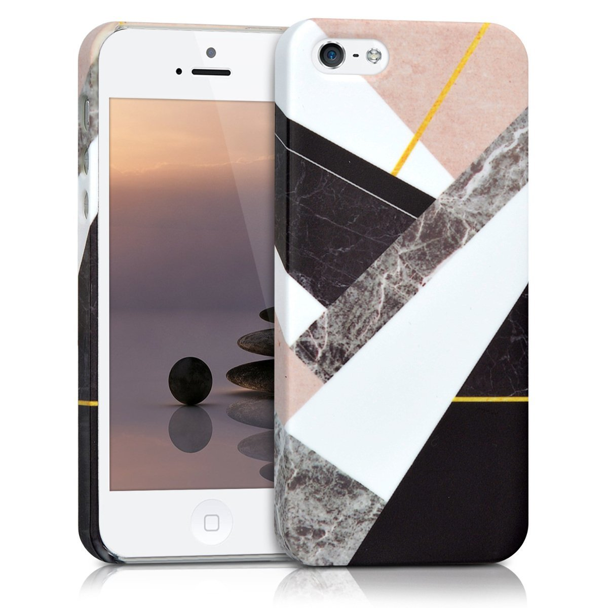 KW Σκληρή Θήκη iPhone SE/5S/5 - Marble Mix (41318.01)