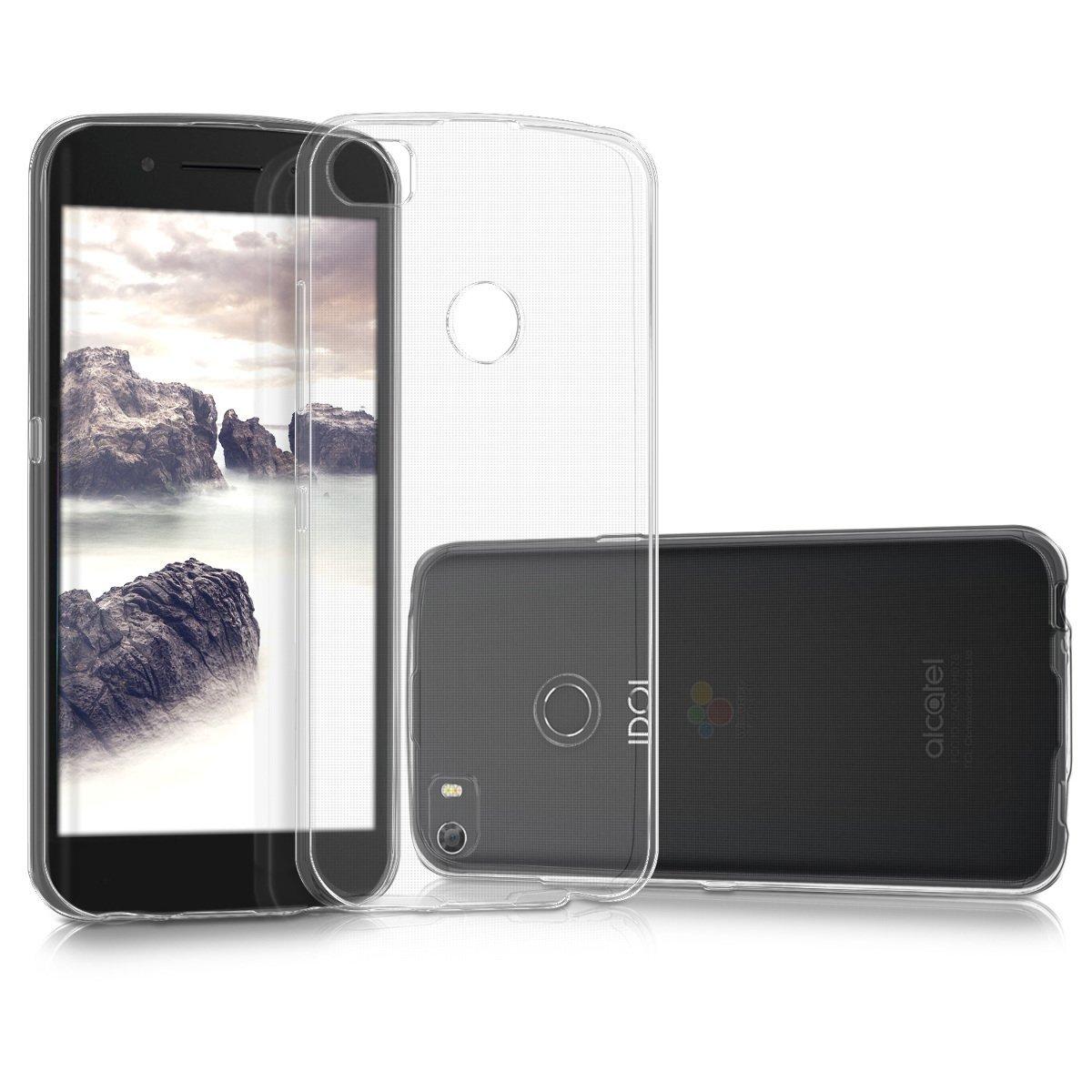 KW Θήκη Σιλικόνης Alcatel Idol 5s - Clear (43175.03) θήκες κινητών