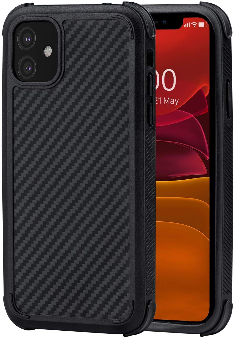 Pitaka MagEz Case Pro - Θήκη Kevlar Body iPhone 11 - Black (KI1101RP)