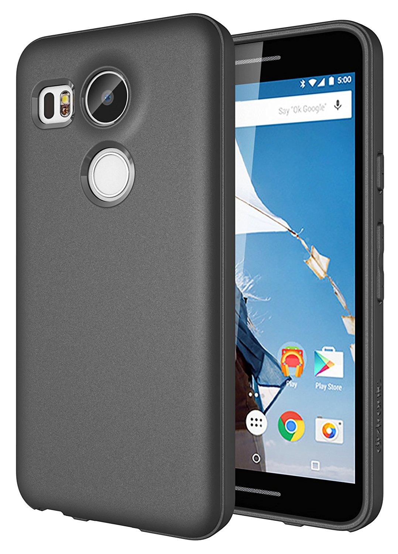 Diztronic Matte Θήκη Σιλικόνης Huawei Nexus 6P - Charcoal Gray (N6P-FM-GRY)