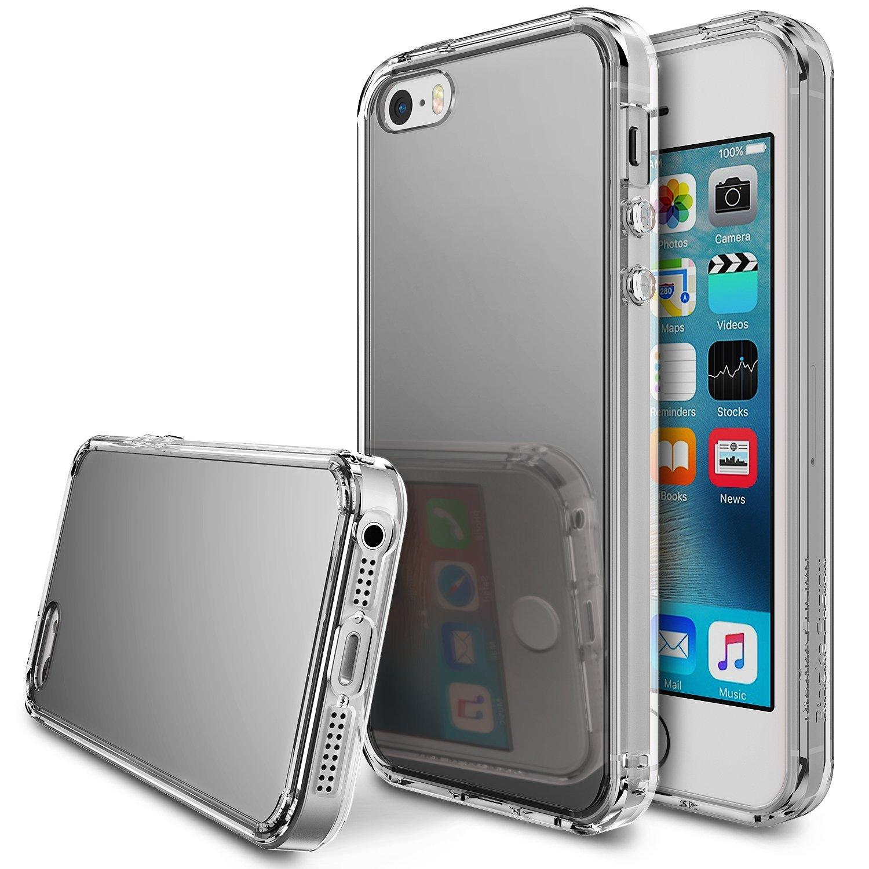 Ringke Fusion Mirror Θήκη με TPU Bumper iPhone SE/ 5S / 5 - Silver (RGK142)