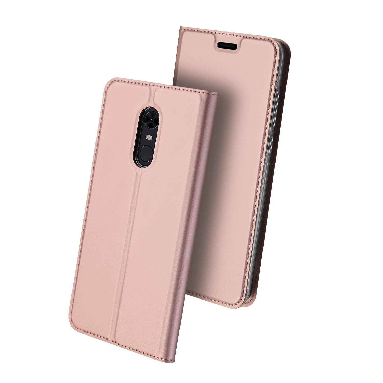 Duxducis Θήκη - Πορτοφόλι Xiaomi Redmi 5 Plus - Rose Gold (13018)