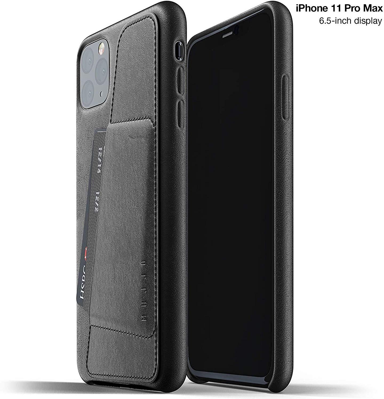 MUJJO Full Leather Wallet Case - Δερμάτινη Θήκη-Πορτοφόλι iPhone Pro Max - Black (MUJJO-CL-004-BK)