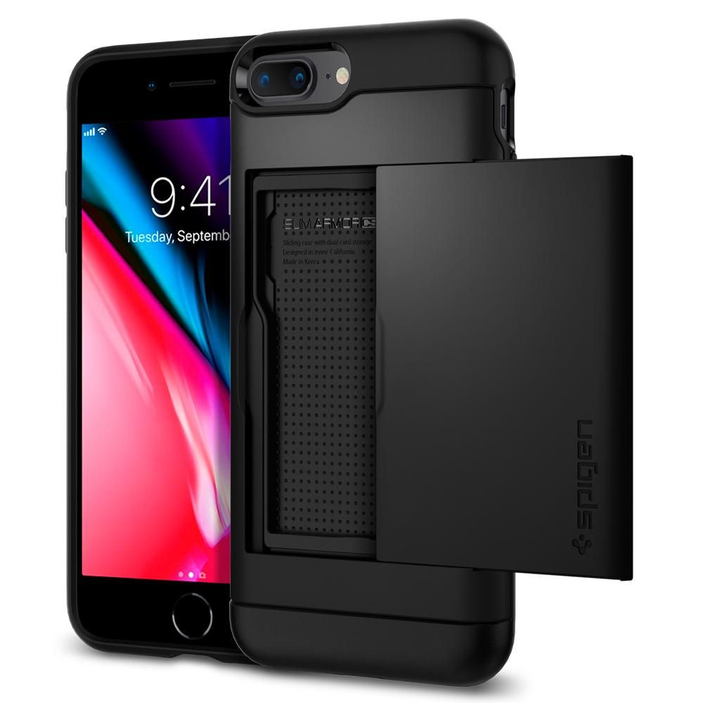 Spigen Θήκη Slim Armor CS iPhone 8 Plus / 7 Plus - Black (043CS20528)