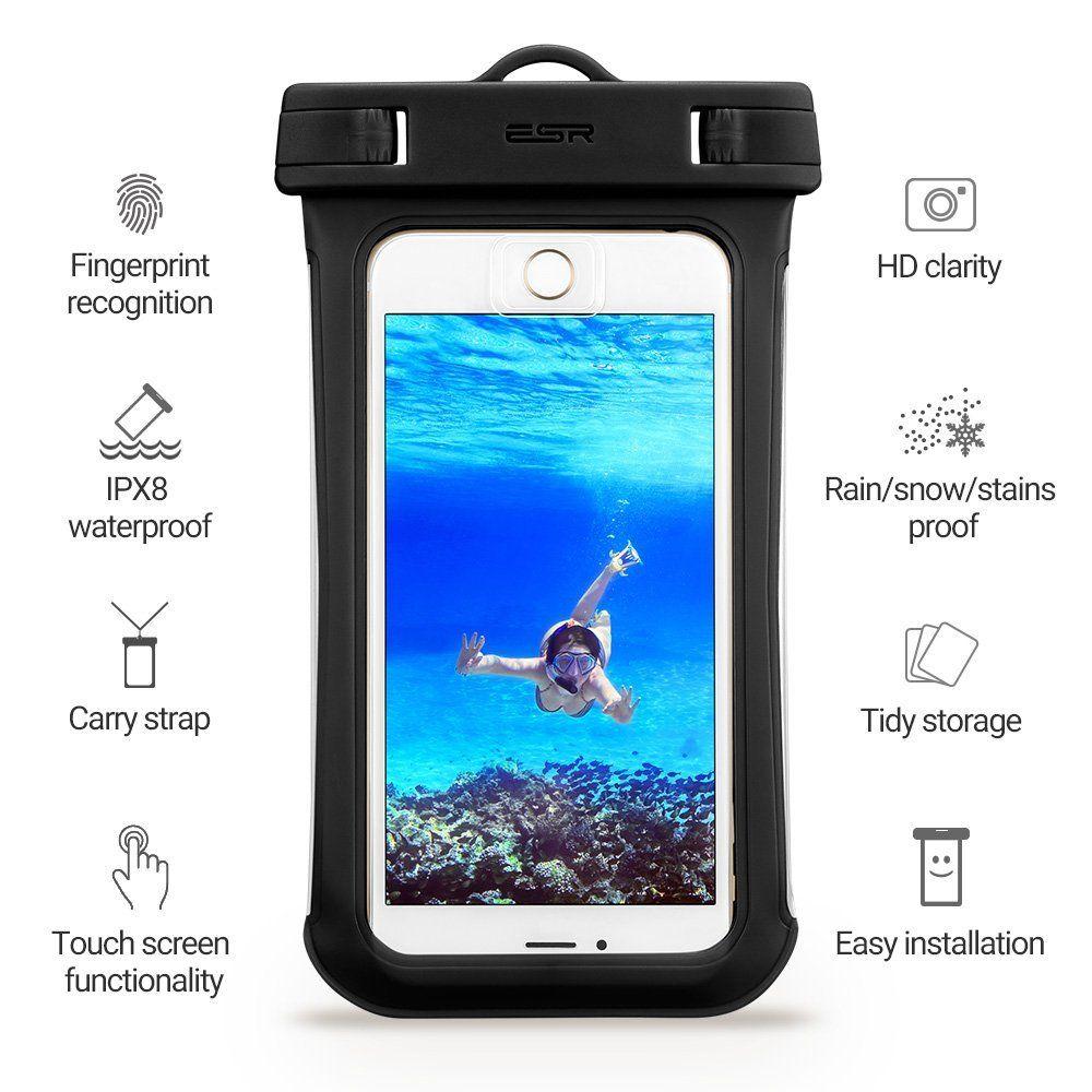 ESR Universal Αδιάβροχη Θήκη Πουγκί για Smartphones έως 5.5'' - Black (13153)