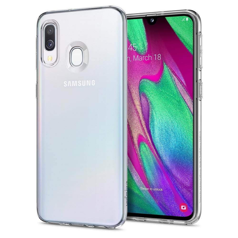 Spigen Θήκη TPU Liquid Crystal Samsung Galaxy A40 - Crystal Clear (618CS26245)