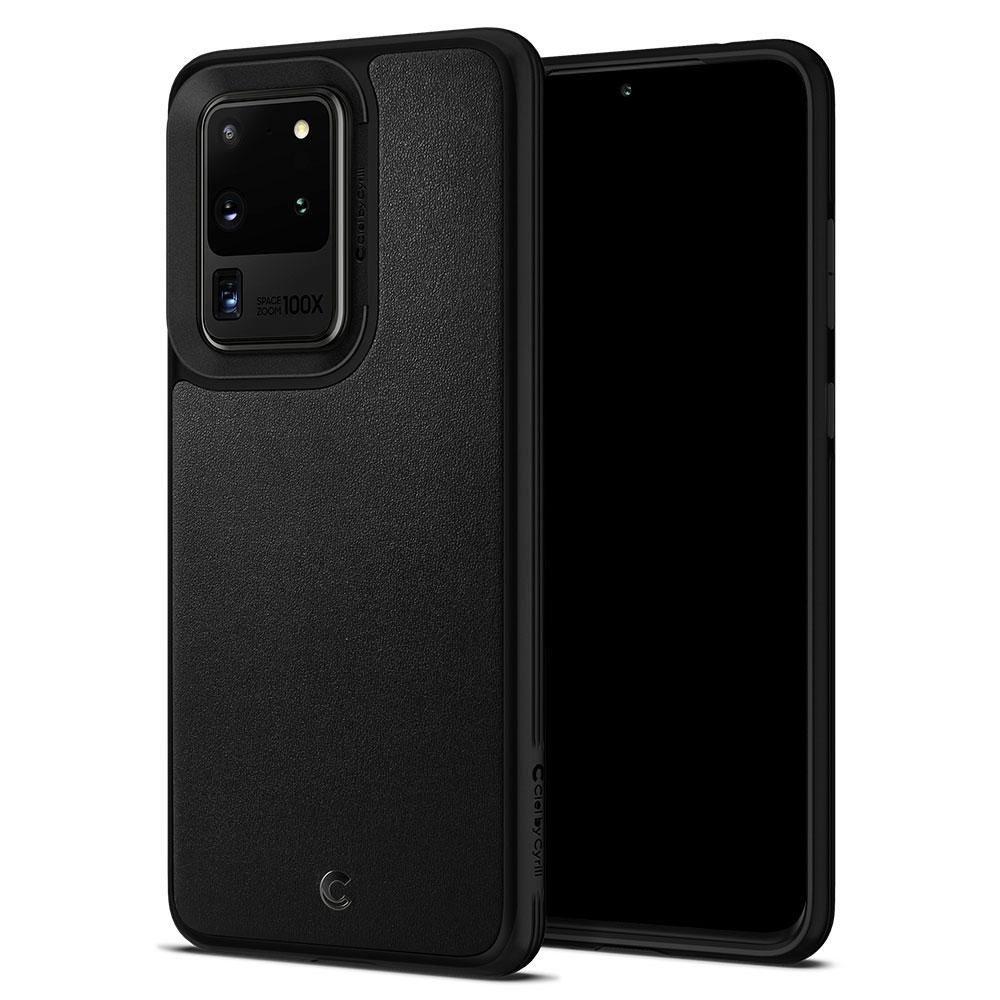 Spigen Θήκη Ciel Leather Brick Samsung Galaxy S20 Ultra - Black (ACS00729)