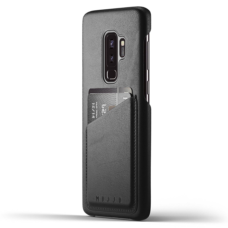 MUJJO Full Leather Wallet Case - Δερμάτινη Θήκη-Πορτοφόλι Samsung Galaxy S9 Plus - Black (mujjo-cs-101-bk)