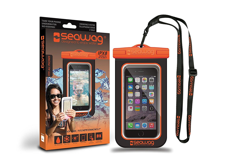Seawag Universal Αδιάβροχη Θήκη Πουγκί για Smartphones έως 5.7'' - Black/Orange (SEAWAG_B5X)