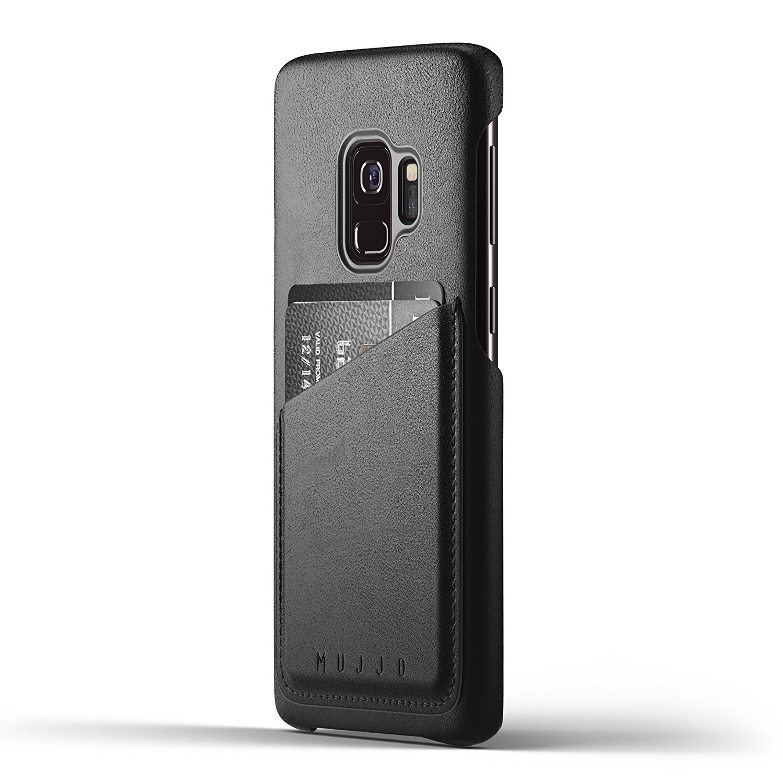 MUJJO Full Leather Wallet Case - Δερμάτινη Θήκη-Πορτοφόλι Samsung Galaxy S9 - Black (mujjo-cs-100-bk)