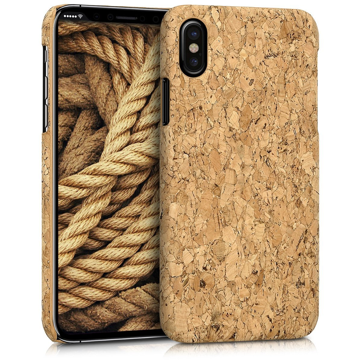KW Σκληρή Θήκη iPhone X / XS - Light Brown Cork (42511.24)